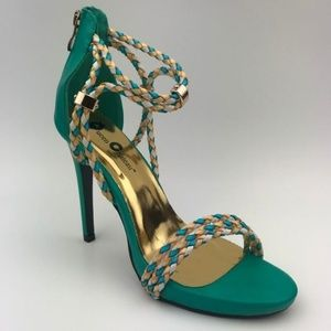 Queen Chateau Shoes - Queen Chateau Nina-1 Teal Heel